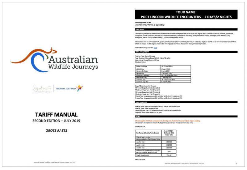 Tariff Manual