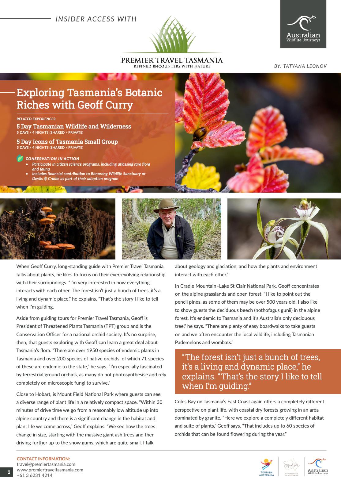 Premier Travel Tasmania - Insider Access